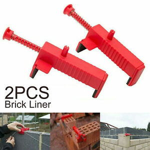 2X-Brick-Line-Runner-Wire-Drawer-Bricklaying-Trowel-Fixer-Building-Construction