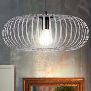 Hange Leuchte Pendel Schlafzimmer Lampe Antik Metall Kafig Grau