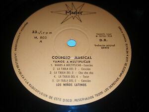 """Los Kinder Latino College Musical 1968 - Spanisch Edition LP 10 """" vinyl VG"""