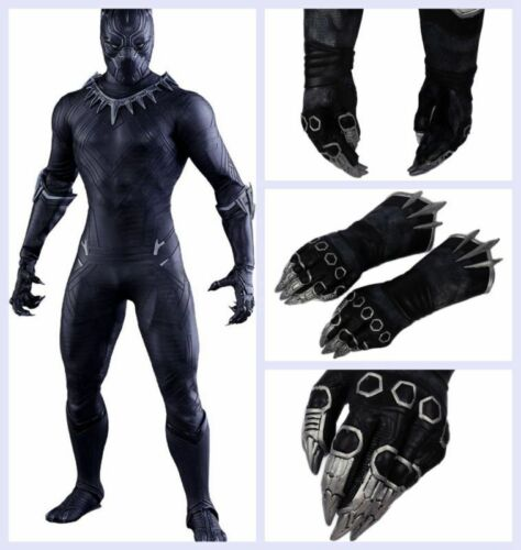 XCOSER Black Panther Claw Gloves Captain America 3 Civil War Movie Costume Props