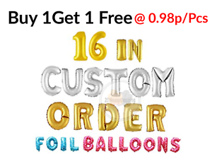"""Foil Letters 16/""""Balloons Any Age Custom Name Rose Gold Birthday Baloons Wedding"""