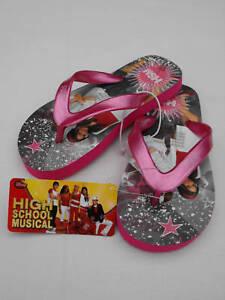 07541f2a2bac BNWT Little Girl Sz 13 Pink High School Musical Thongs Flip Flops ...