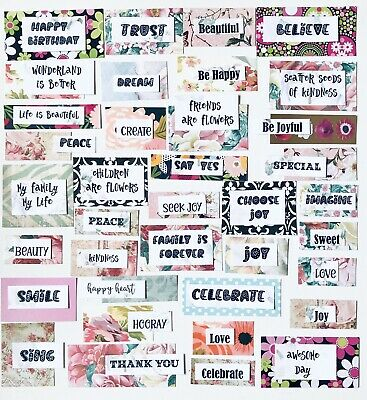 Junk Journals 75 Piece Kit Words /& Quotes for Scrapbook Pages Greeting Cards