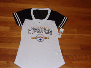 more photos 4e479 be388 Details about NWT NFL TEAM APPAREL PITTSBURGH STEELERS FOOTBALL JERSEY  WOMENS MEDIUM