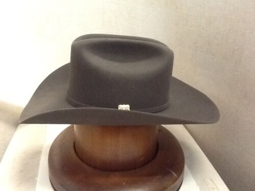 Free Hat Brush Stetson Cowboy Hat 6X Beaver Fur 150th Spirit Dr.Grey