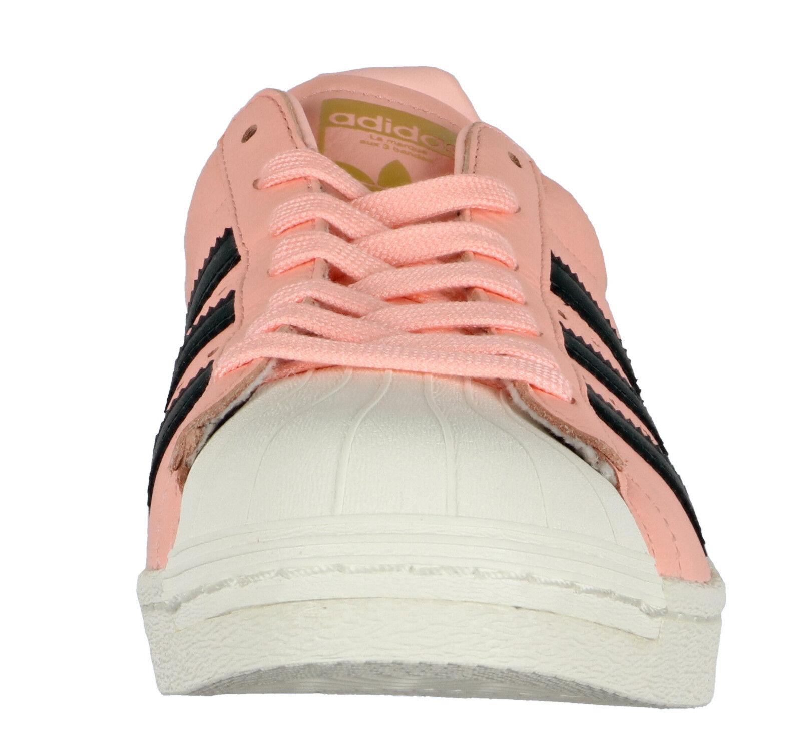Adidas Superstar Verstärkung Sz 12.5 Weiß Korallenrot Hazel Pink Schwarz Weiß 12.5 fea767