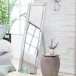 Floor Mirror With Stand Mirrored Frame