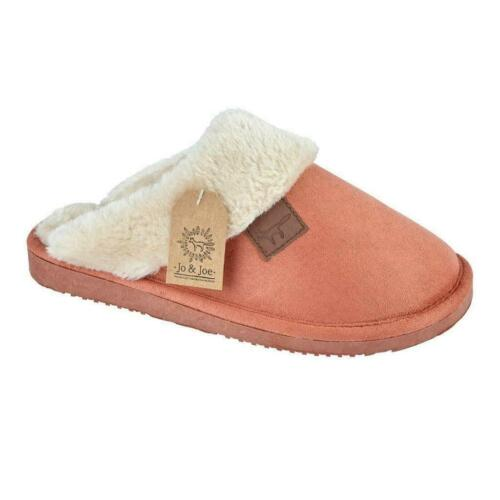 Womens Warm Soft Fur Lined Cosy Winter Ladies Faux Suede Indoor Mules Slippers