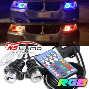Lux Bmw E90 E91 Rgb Led Angel Eyes Halo Ring Remote Control For Bmw