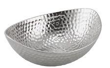 Ø 24 Cm Aluminium Decorative Dish Fruit Bowl Hammered Silver