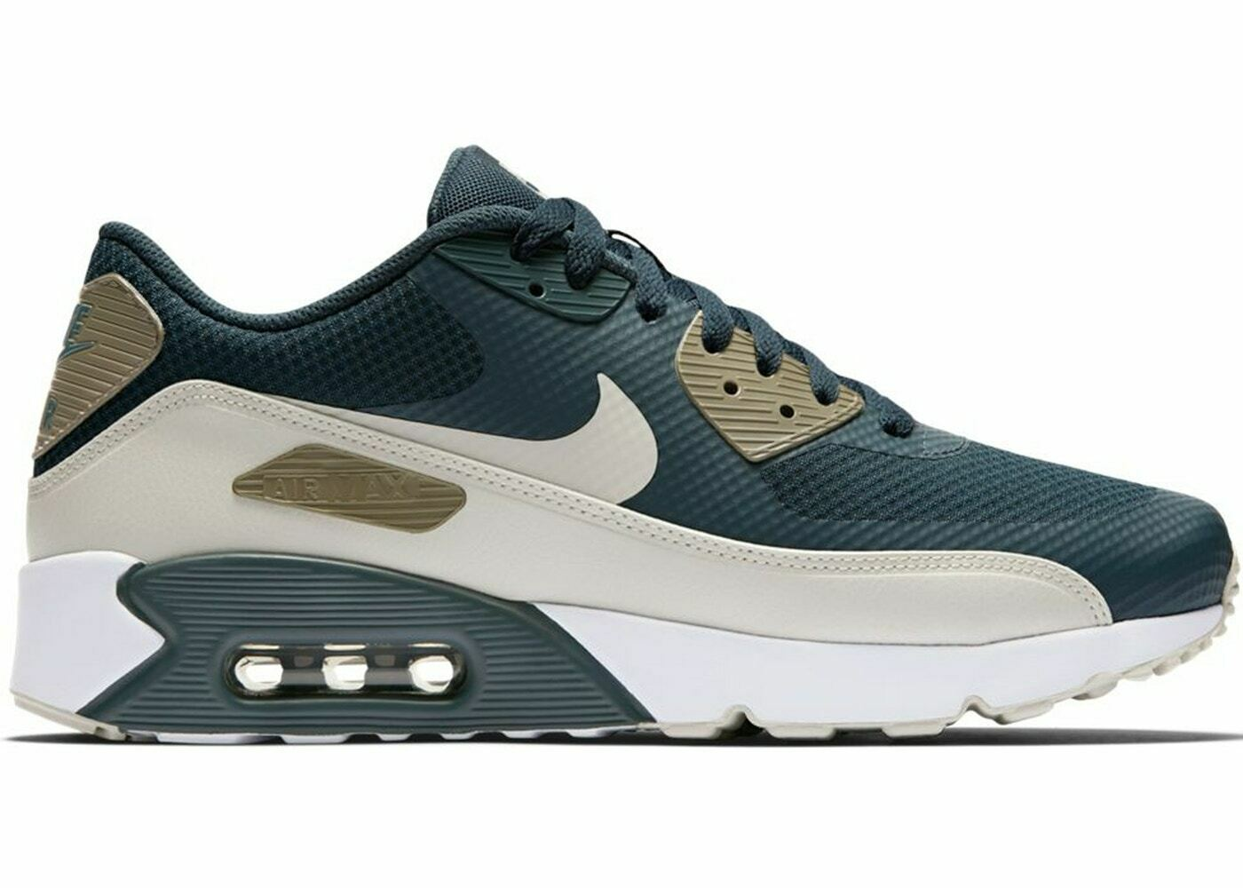 AUTHENTIC NIKE Air Max 90 Ultra 2.0 bluee Fox Mushroom White 875695 401 men size