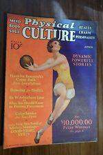 Physical Culture Magazine 4/1932 Ziegfield Follies girls Great Ads Muscle Men +