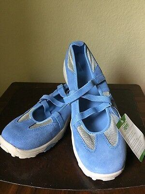 Costumes, Reenactment, Theater Lands' End Big Girl Shoes Size 6m New Mary Jane Trekker Blue