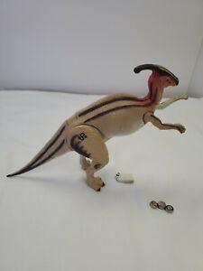 "Vintage Jurassic Park The Lost World JP.19  Parasaurolophus Dinosaur 1997 ""Works"
