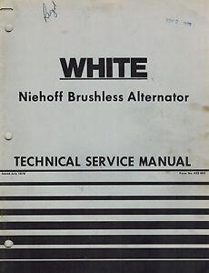 white niehoff brushless alternator technical service manual ebay rh ebay com Heavy Duty Alternators and Starters Heavy Duty Ford 6.0 Alternator
