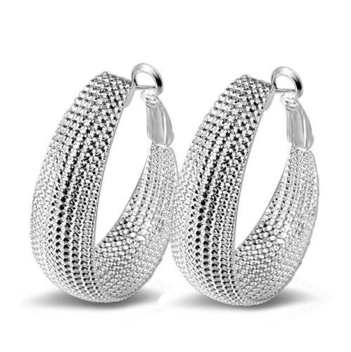TRENDY 925 Plaqué Argent Cristal Strass Goutte Dangle Ear Stud Crochet Boucles D/'oreilles