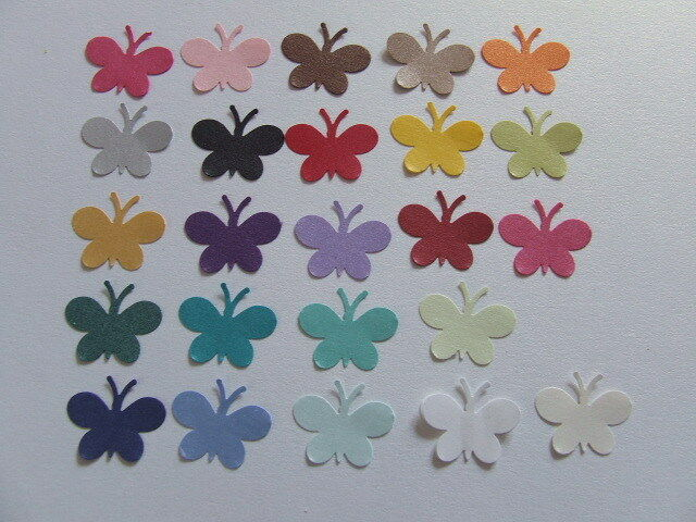 100 PEARLESCENT SHIMMER BUTTERFLY CONFETTI Wedding PARTY Table Confetti Topper