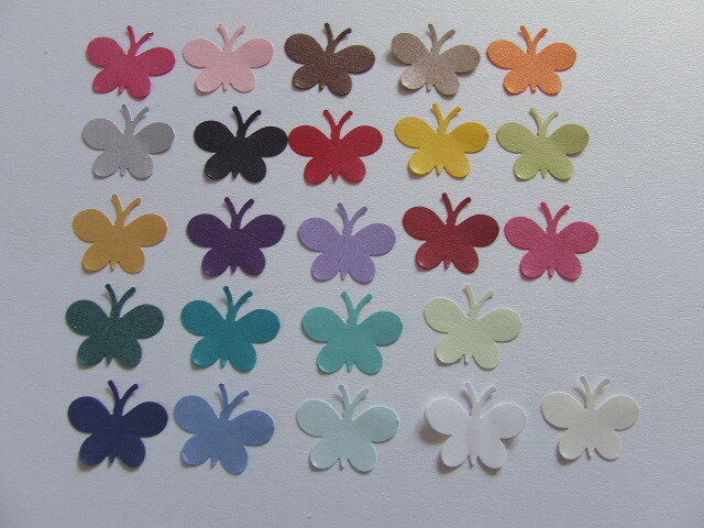 1OO PEARLESCENT SHIMMER BUTTERFLY CONFETTI Wedding PARTY Table Confetti Topper