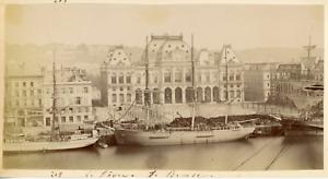 France, Le Havre, La Bourse, ca.1880, vintage albumen print Vintage albumen prin