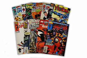 10-Comic-Book-bundle-lot-with-10-Spider-Man-Random-Comic-Collection