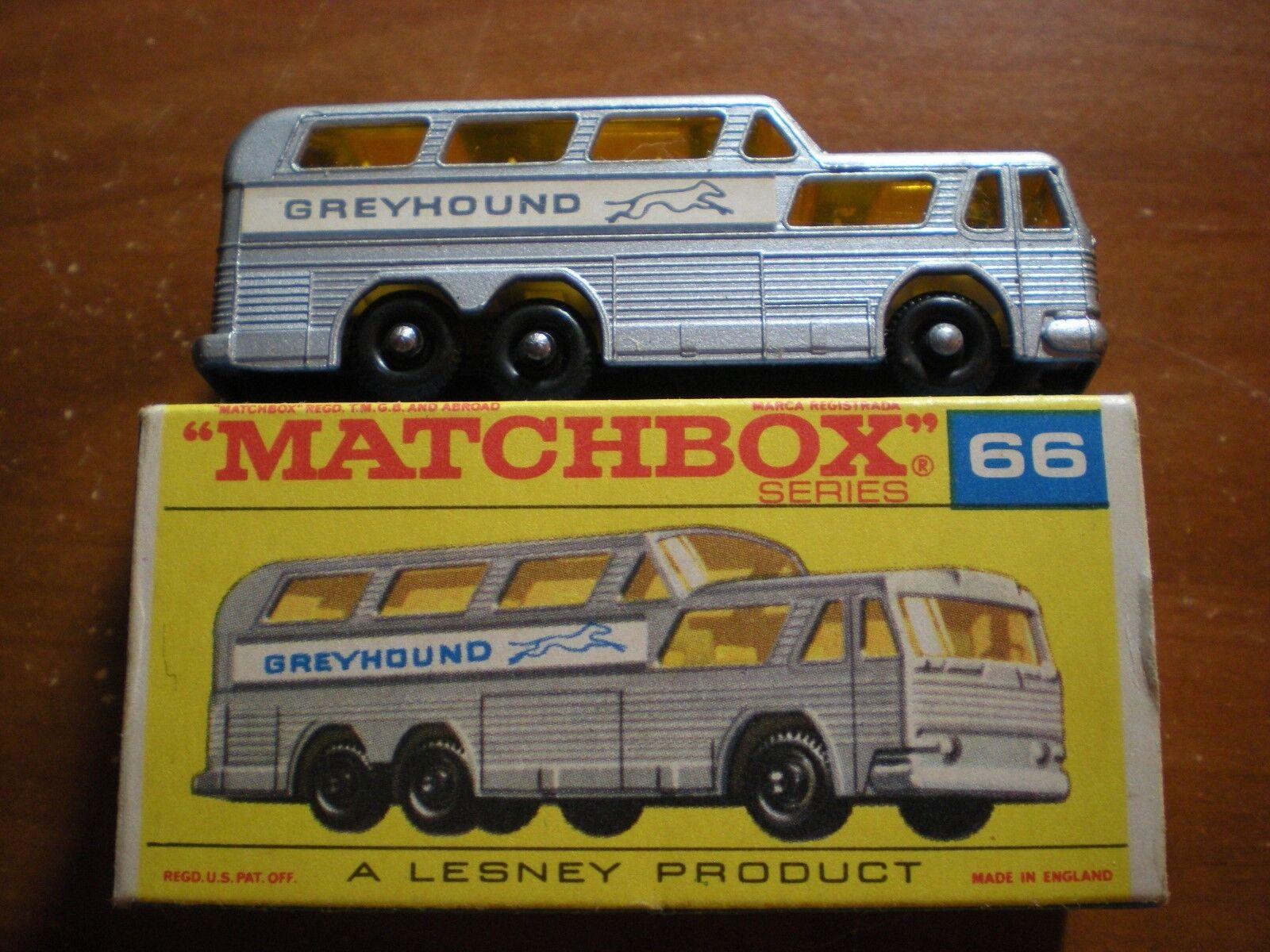 MATCHBOX LESNEY LNIB  C GREYHOUND BUS WITH ORIGINAL  F  BOX