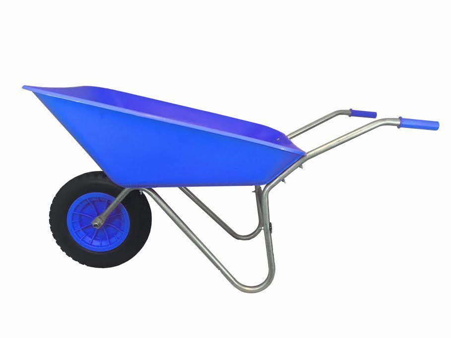85L blueE PLASTIC WHEELBARROW WHEEL BARROW WITH blueE PU PUNCTURE PROOF WHEEL