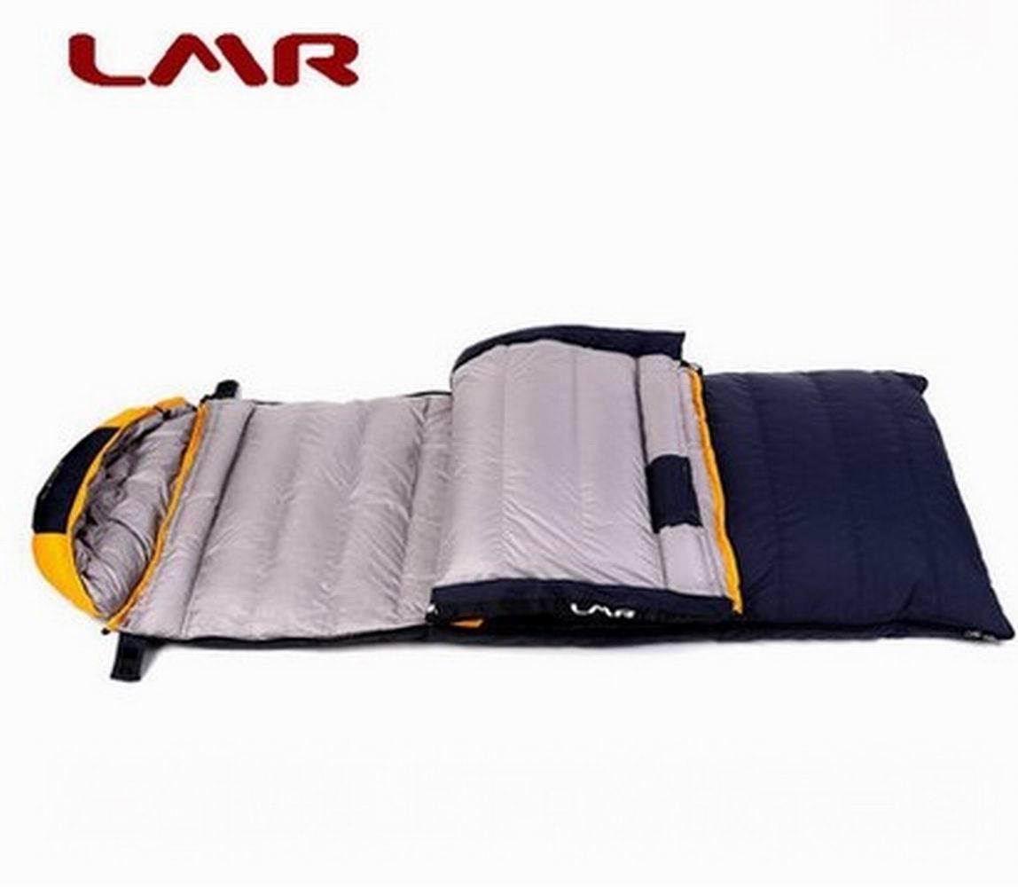 Matt nylon down sleeping bag outdoor rectangular sleeping bag warm new outdoor