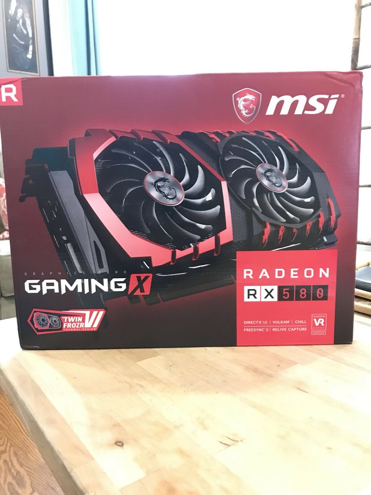 msi radeon rx 580 gaming x 4gb BOX ONLY REPLACEMENT