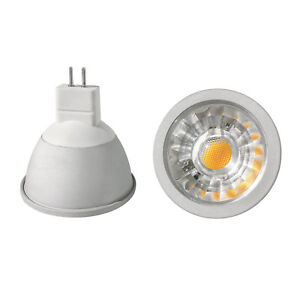 cob led leuchtmittel mr16 gu5 3 12 volt 3 5 6 watt 280 bis 540 lumen sehr hell ebay. Black Bedroom Furniture Sets. Home Design Ideas