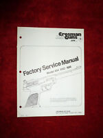 Crosman 454 & 1600 Service Manual With Exploded View