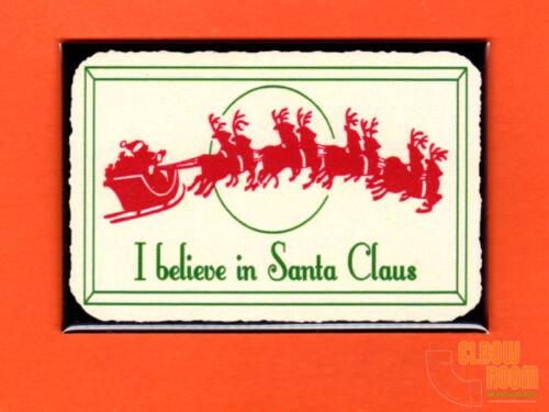"""I Believe in Santa vintage look 2x3/"""" fridge//locker magnet Christmas"""