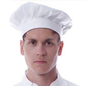 Caricamento dell immagine in corso Chef-Cappello-Alto-Costume-Adulto-CHEF- CUOCO-BIANCO- 9b56f389d15c