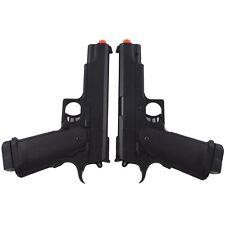 2 X UKARMS M1911 Full Size Spring Airsoft Hand Gun Pistol 6mm BBS BB Black