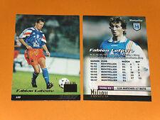 FABIEN LEFEVRE SC MONTPELLIER PAILLADE MOSSON FOOTBALL CARD PANINI 1996-1997