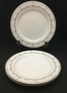 Image is loading Noritake-Norwood-Dinner-Plates-set-of-3-vintage- & Noritake Norwood Dinner Plates (set of 3) - vintage Japanese Fine ...