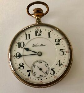 Hamilton pocket watch 21 jewels model 992 sz 16. Adj. 5 positions Good condition