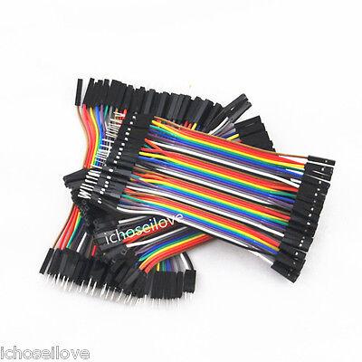 3 x 40PCS Dupont wire jumper cables Set 10CM Length 2.54MM Male Female 1P-1P