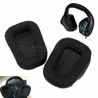 Black Replacement Earpads Ear Cushions for Logitech G933 and G633 Artemis Spectrum Gaming Headsets