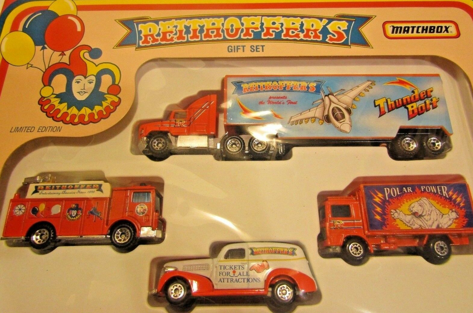 Reithoffer's Gift Set Matchbox Circus Boxed Limited Edition White White White pink Shows 065540