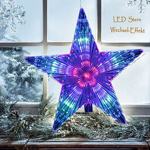 led stern christbaumspitze weihnachtsstern 230v lauflicht. Black Bedroom Furniture Sets. Home Design Ideas