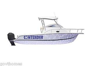 Logo Decal For CONTENDER Mako Boston Whaler Persuit And Others - Sporting boat decalsboston whaler decals ebay