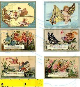 DOLLSHOUSE Mini  Flower Fairies Vintage Prints  Set CDHM  1:12