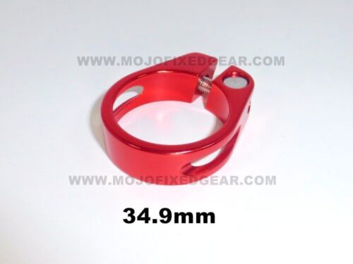 Seatpost Clamp 34.9mm RED seat post Fixed Gear Road MTB