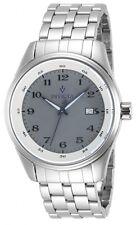 New Men's Invicta 12187 Vintage Swiss Dark Grey Dial Stainless Steel Watch