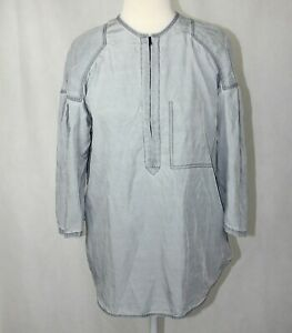 3-1-Phillip-Lim-Size-4-Grey-3-4-Sleeve-3-4-Front-Zip-Relaxed-Fit-Blouse