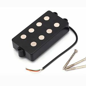 4 string bass humbucker double coil pickup black for bass guitar ebay. Black Bedroom Furniture Sets. Home Design Ideas