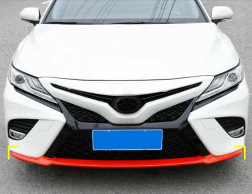 corner Lip Cover Trim For Toyota Camry 2018 ABS Carbon fiber Red Front Bumper