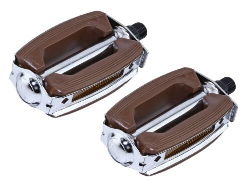"NEW Bike Bicycle Brown Krate Pedals 9//16/"" CRUISER LOWRIDER CHOPPER Pedals"