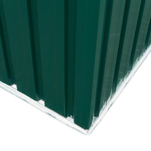 Geräteschuppen Gerätehaus Gartenhaus Giebeldach Metall grün 257x205x178 cm