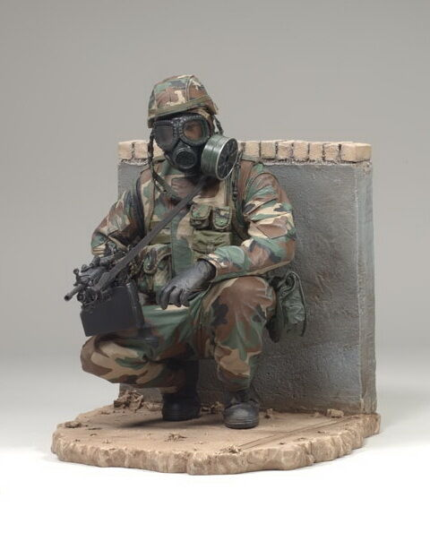 Mcfarlane Military Series 6 Army Infantry MOPP Suit figure NEW M.O.P.P.